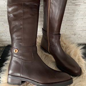 Leather Coach boots
